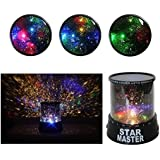 Canfix Star Master Projector With USB Wire Turn Any Room Into A Starry Sky Colorful Romantic LED Cosmos Star Master Sky Starry Night Projector Bed Light Lamp. Night Lamp