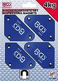 Bgs 3004Set di mini supporti magnetici, confezione da 4 pezzi da 45°, 90°, 135°