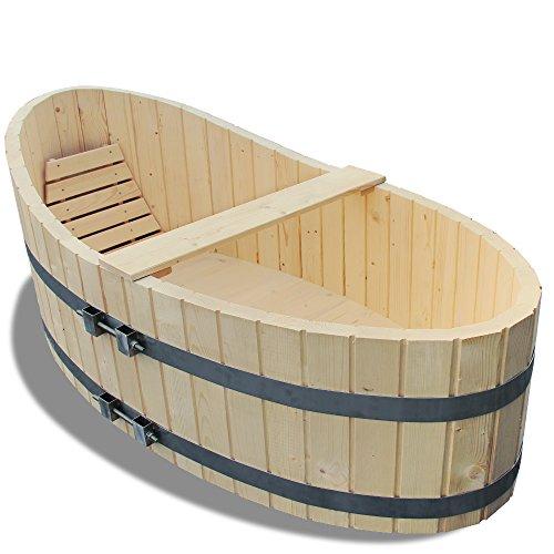 Preisvergleich Produktbild Holz Badewanne Badezuber 178x87cm inkl. Ablaufhahn