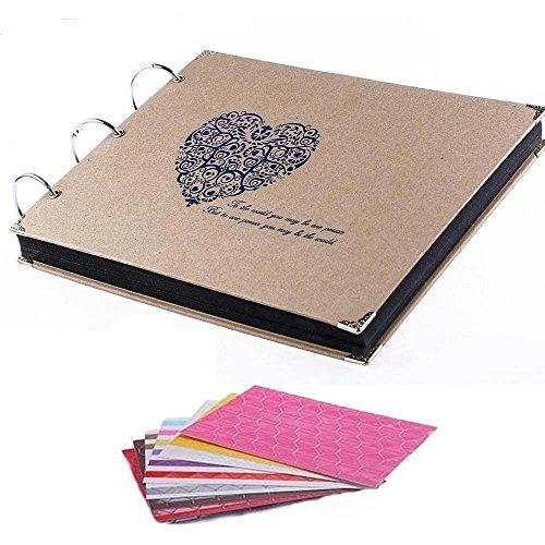 Geschenkidee DIY Scrapbook Fotoalbum Groß, Notizbuch Vintage Style Weinachtsgeschenk Sinnvoll (C)