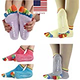 Getko Top Quality 5 Toes Cotton Yoga Socks Exercise Sports Pilates Massage non-slip Sock Toe Five Fingers Girl Female Women Ladies