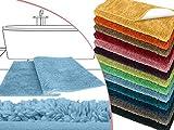 die extra Streicheleinheit für Ihre Füße in Markenqualität - Mikrofaser Badteppich - erhältlich in 13 modernen Farben und 6 verschiedenen Größen -, blau, 70 x 120 cm