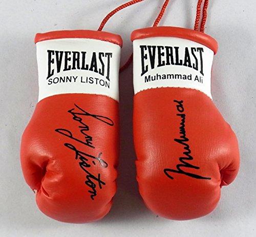 Muhammad Ali V Sonny Liston Signiert Mini Boxhandschuhe