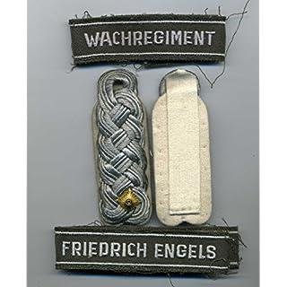 NVA Schulterstücke Major Wachregiment Friedrich Engels Effekten ähl.Wehrmacht