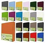 Sábanas bajeras ajustables de leevitex. Algodón 100 % en distintos tamaños y colores. Certificado de calidad Standard 100 by OEKO-TEX, 100 % algodón, terracota, 180x200 - 200x200 cm