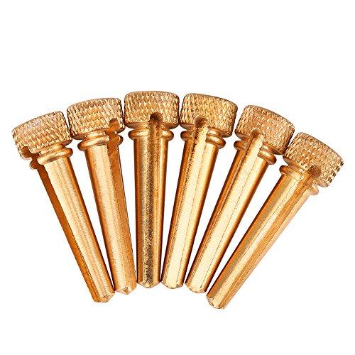 Pins,6Pcs DIY Exquisite Durable Abalone Dot Acoustic Guitar Bridge Pins Replacement Part for Guitar Accessories ()