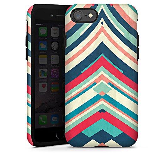 Apple iPhone X Silikon Hülle Case Schutzhülle Streifen Muster Gestreift Tough Case glänzend