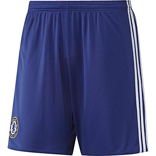 adidas Herren Fußball/Heim FC Chelsea Replica Shorts, Chelsea Blue/White, XXL (Chelsea Replica Kit)