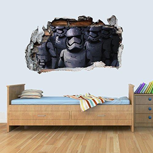 GNG Starwars Storm Trooper Smashed Wandtattoo Poster 3D Kunst Aufkleber Vinyl Zimmer L (Easy Star Wars Kostüm)