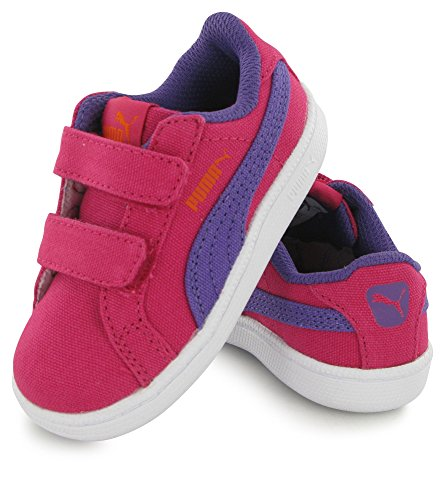 Puma Bb Smash Fun Canvas rose, baskets mode enfant Rose