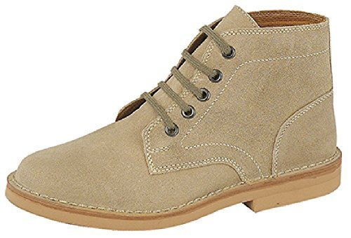 Mens Classic 5-Hole Real Suede Desert Boots. Beige, Black Or Brown. Sizes...