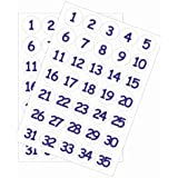 35mm Numbers 1-Stickers (White Background)