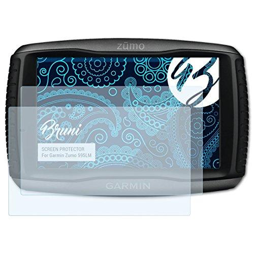 Bruni Schutzfolie kompatibel mit Garmin Zumo 595LM Folie, glasklare Displayschutzfolie (2X)