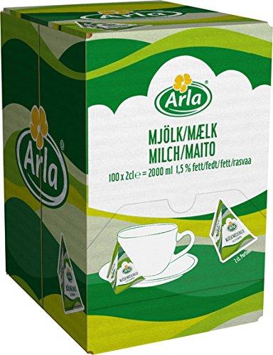 Arla Milch-Portion 1.5 % 100 x 20ml, 1er Pack (1 x 2.1 kg)