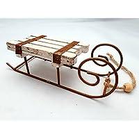 Deko Schlitten Holzschlitten Rodelschlitten aus nachhaltig hergestelltem FSC-z
