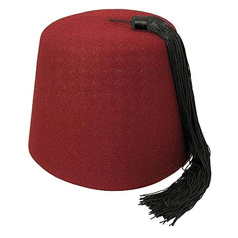 Village Hats Maroon Fez - Bonnet - Homme - Rouge (Bordeaux) - Medium (Taille fabricant: Medium)