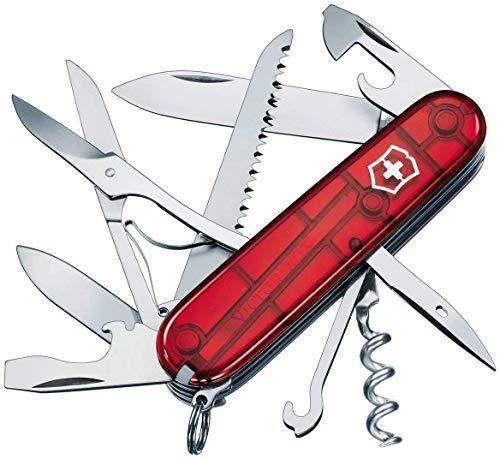 Victorinox Couteau Suisse Huntsman translucide rouge