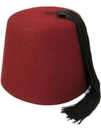 Chapeau Fez Bordeaux avec houppe noire