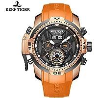 Reef Tiger–Orologio da uomo cassa in oro rosa orologio automatico RGA3532
