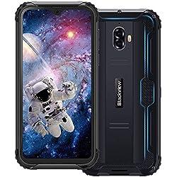 Telephone Portable Incassable 4G, Blackview BV5900 Android 9.0 - Smartphone Debloqué, Résistant Etanche Antichoc Extérieur, Écran HD+ 5.7 Pouces, 3GO + 32GO, Batterie 5580mAh, 13MP + 5MP, Face/NFC