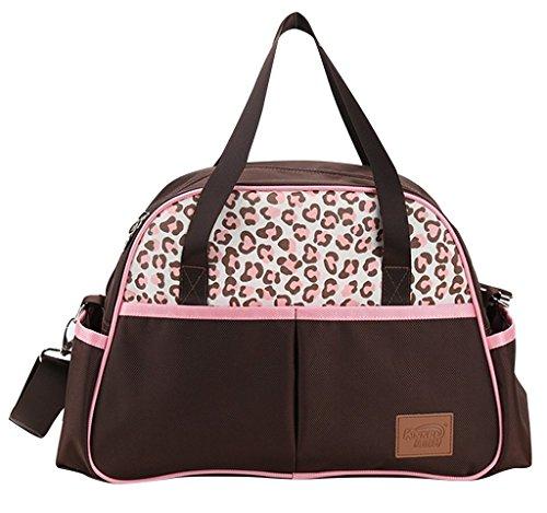 Fashion Leopard Grande Capacità Borsa da donna elegante spalla borsa borsa OXFORD panno (Leopard Elegante)
