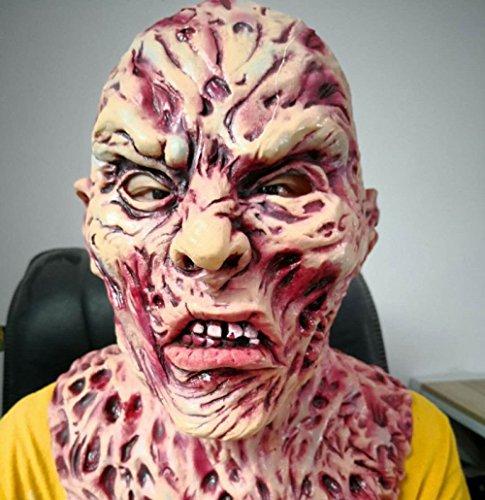 WSJDJ Halloween Erwachsene COS Maske Männlich Horror Biochemie Geist Milch Kunststoff Kopf Leistung Requisiten (Lange Haare Halloween-kostüme Männlich)