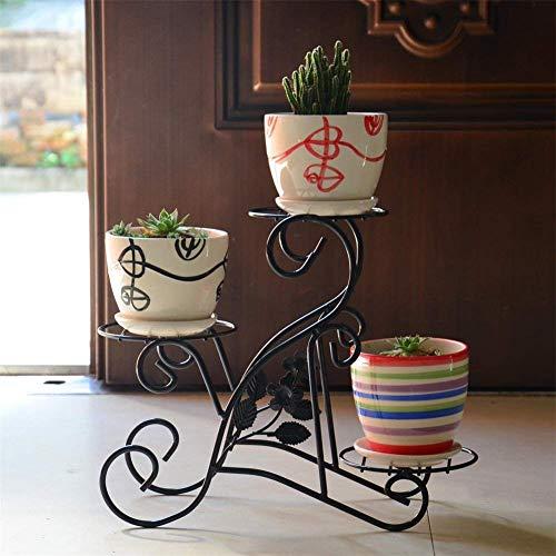 IU Desert Rose Meubles de Salon Modernes Mini présentoir de Fleur en Fer Noir/Support de Bureau