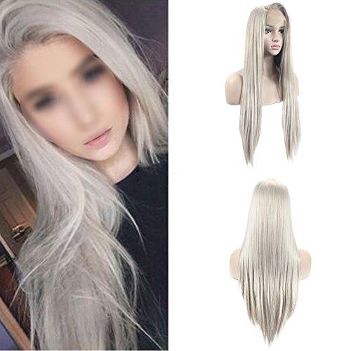 itze Vorderseite Perücken Gerade Synthetik Haar 24 Zoll (Einfache Minimal Halloween Kostüme)