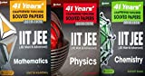 41 Years' Chapterwise Topicwise Solved Papers (2019-1979) IIT JEE (PCM) (PHYSICS CHEMISTRY MATHS) (SET of 3 BOOKS)