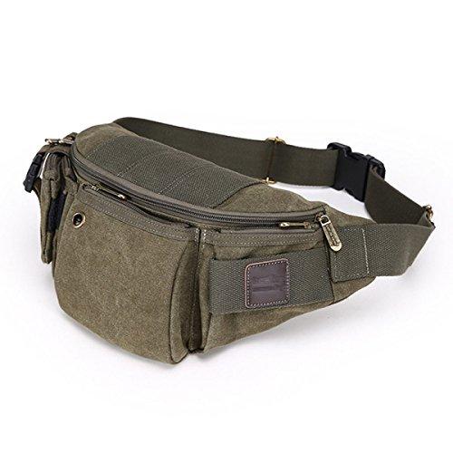Multifunktions-Männer Große Kapazität Taschen Multicolor Green