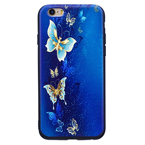 """MOONCASE iPhone 6/iPhone 6s Coque, [Relief Pattern] Flexible TPU Protection Housse Ultra Slim Armure Anti-choc Defender Etui Case pour iPhone 6/iPhone 6s 4.7"""" Butterfly Butterfly"""