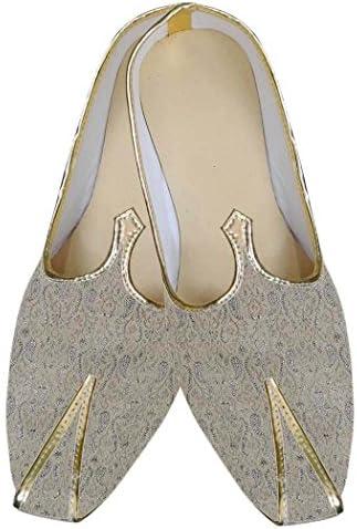 INMONARCH Diseñador Beige Hombres Zapatos de Boda MJ0108