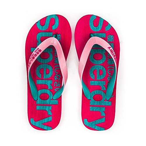 Superdry Tongs Mainline Imperial Pink/Turquoise Rose