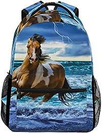 144f2b61f4 COOSUN Esecuzione di Daypack Borsa Cavallo casuale scuola dello zaino di  viaggio Multicolore