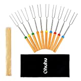 Ohuhu 10 Telescopic Marshmallow Roasting Sticks Smores Skewers Hot Dog Forks
