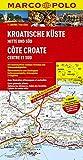 MARCO POLO Karte Kroatische Küste, Mitte und Süd 1:200.000 (MARCO POLO Karte 1:200000)