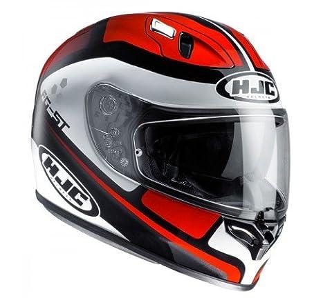 HJC FG-ST Sun Visor Full Face Motorcycle Helmet - Cinnati MC1 Red/White/Black2XL