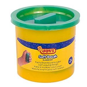 Jovi - Soft Dough Blandiver, Estuche de 5 Botes, 110 g, Color Verde (45004)