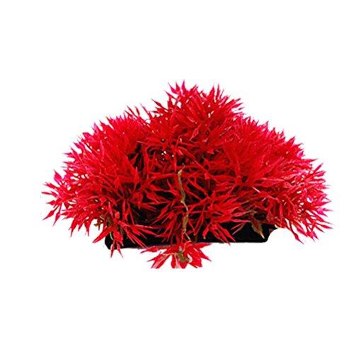 kaíki Simulation von Wasserpflanzen, Kunststoff Traubenblätter Dekorative Lange Blatt Pflanze für Aquarium (Aquarium Pflanze Blatt)