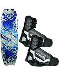 Rave Sports 02392 Freestyle 139cm Youth Wakeboard w/ Striker Bindings by Rave