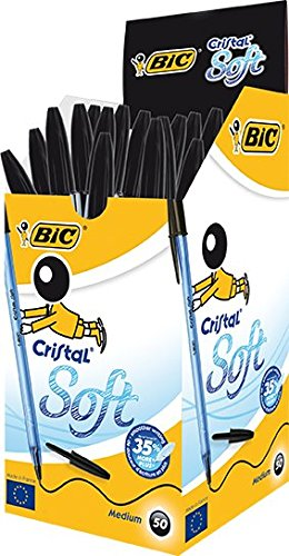 bic-cristal-soft-stylo-bille-non-retractable-noir