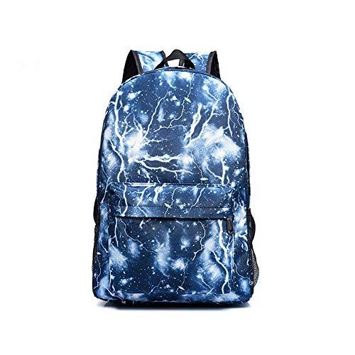Unisex Galaxy Schulrucksack Lightning Canvas Rucksack Laptop Book Bag Satchel Wandertasche