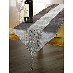 Idea Regalo - DegGod il nuovo diamante lusso moda tabella bandiera classico tavolino panno ristorante pasto bandiera piedi del letto panno tovaglia ( dimensioni : 32*185cm ) -- argento