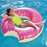 #5: Inflatable Swim Ring - Blow Up Floating Tube Raft Tube for Swimming Pool Beach - Pink (100 cm)