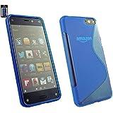 Emartbuy� Amazon Fire Phone Ultra Slim Gel Skin Case Cover Blue