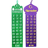 Handgefertigt Filz Ramadan / Eid Wandbehang Countdown Kalender - Doppelpack m/ 2 Entwürfe