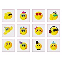 Henbrandt Smiley Face Tattoos - 12 pack
