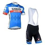 Strgao 2016 Herren Pro Rennen Team Garmin MTB Radbekleidung Radtrikot Kurzarm und Tr?gerhose Anzug Bib shorts suit