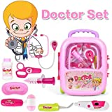 FunBlast Doctor Kit Toys For Kids, Doctor Set Toys With Light And Sound (Pink)