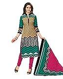 Aarvi Women's Cotton Unstiched Dress Mat...